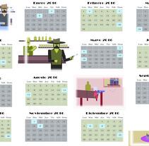 Loco West Calendario. Un proyecto de Ilustración de Angel Piñero a Pascual del Riquelme - 27-01-2016