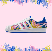 Tropical | Pattern Design. A Illustration, Fashion, Graphic Design, and Shoe Design project by Zeltia Garzía         - 05.02.2016