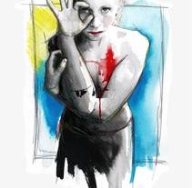 Tell me a fucking happy ending storyNuevo proyecto. Un proyecto de Ilustración y Bellas Artes de Mentiradeloro Esther Cuesta - 11-02-2016