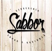 """Marca """"Sabbor"""" bar, cervecería de tapas y raciones.. Un proyecto de Diseño, Br, ing e Identidad y Diseño gráfico de Daniel Puente Morales         - 11.02.2016"""