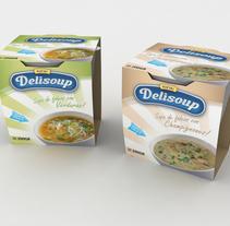 Delisoup: Branding y Packaging. Um projeto de 3D, Br, ing e Identidade, Design gráfico, Packaging e Design de produtos de Gabriel Delfino - 31-07-2009