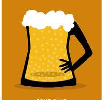 Piensa en la cerveza con cabeza. Un proyecto de Ilustración de Pecreativa         - 15.07.2014