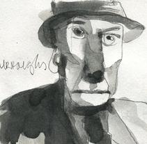William S. Burroughs. Un proyecto de Ilustración, Bellas Artes y Pintura de Alejandro  Armas Vidal - 03-03-2016