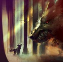 El Perro y el Lobo. Un proyecto de Ilustración y Comic de Ismael Alabado Rodriguez - Martes, 08 de marzo de 2016 00:00:00 +0100