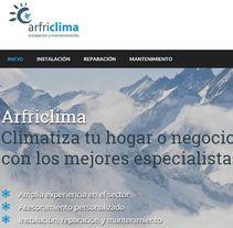 Landing Page ARFRICLIMA: instalación y mantenimiento de aire acondicionado. A Advertising, and Web Development project by Publicis Proximedia         - 13.03.2016