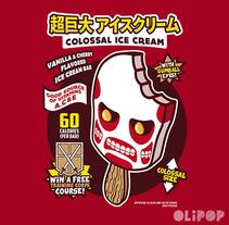 Colossal Ice Cream. Um projeto de Ilustração e Design gráfico de Oliver Ibáñez Romero         - 13.03.2016