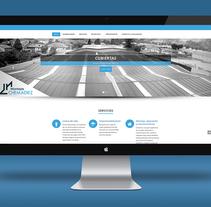 """Página web """"Montajes Chema"""". Un proyecto de Diseño Web de Sara Barreiro         - 26.03.2016"""