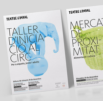 Carteles Teatre del Raval. Un proyecto de Dirección de arte, Diseño editorial y Diseño gráfico de Baptiste Pons - 03-04-2016