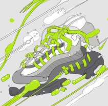 NIKE ANATOMY OF AIR. A Design, Illustration, Graphic Design, Screen-printing, Street Art&Infographics project by Copete Cohete         - 06.04.2016