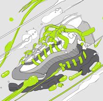 NIKE ANATOMY OF AIR. Un proyecto de Diseño, Ilustración, Diseño gráfico, Serigrafía, Arte urbano e Infografía de Copete Cohete  - 06-04-2016
