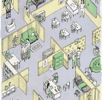 """Portada revista """"F""""- Grupo Planeta. Un proyecto de Ilustración y Diseño editorial de Jaume Montserrat         - 07.06.2015"""
