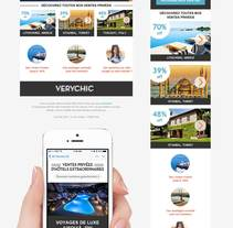 VeryChic email design. A Design, Marketing, and Web Design project by Paulo Marques         - 03.05.2015