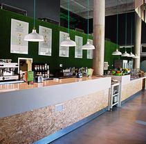 Proyecto interiorismo_Restaurante Go feed. Um projeto de Arquitetura de interiores e Design de interiores de AnaBelenCorredera         - 21.04.2016