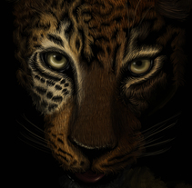 Leopardo Dibujo Digital - Leopard Digital Paint. A Illustration, and Painting project by Cristina Pelayo Álvarez         - 12.05.2016