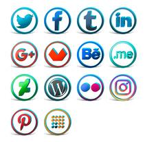 Iconos sociales. Un proyecto de Diseño, Br, ing e Identidad, Diseño gráfico, Diseño Web y Social Media de Ana del Valle Seoane         - 31.12.2015