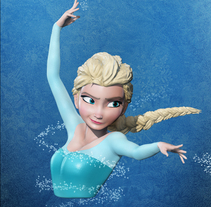 Elsa Frozen Zbrush. A Illustration, 3D, Animation, Fine Art, and Film project by Jorge Luis Casin Urbano         - 30.05.2016