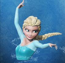 Elsa Frozen Zbrush. Um projeto de Ilustração, 3D, Animação, Artes plásticas e Cinema de Jorge Luis Casin Urbano         - 30.05.2016