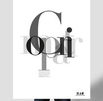 Folleto publicitario de la EAG, Proyecto de clase. A Design project by Laura Rodríguez García         - 02.06.2013