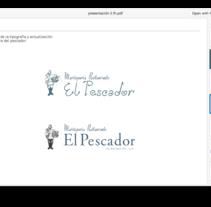 Diseños para el Restaurante El Pescador. A Design, and Graphic Design project by César Martín Ibáñez  - Jun 12 2016 12:00 AM