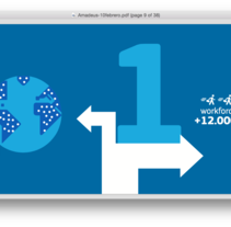 Amadeus Informe Anual. Un proyecto de Diseño gráfico de César Martín Ibáñez  - 11-06-2016