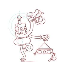 personajes ilustración infantil. Un proyecto de Diseño e Ilustración de Mar Oliver         - 03.06.2016
