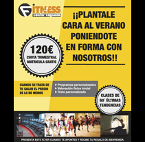 Flyer Fitness Center Vaguada. A Design, Advertising, and Graphic Design project by Ester Arráez Medina         - 10.04.2016