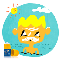 NIVEA SUN ROLL-ON Frota, frota. A Illustration project by Vanesa  Carosia - 13-06-2016