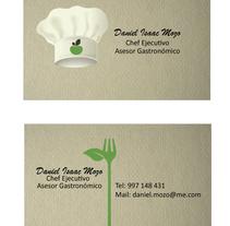 Tarjetas de Presentación - Chef de Comida Vegana. Um projeto de Design gráfico de Atenas Román - 31-05-2016