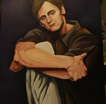 Retrato Mikhail Baryshnikov. Un proyecto de Bellas Artes y Pintura de Maite Gutiérrez - 19-12-2014