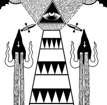 "Lighthouse ""Illuminati"" My Path . A Illustration project by HǢl Phlegathon - Jul 14 2016 12:00 AM"