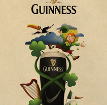 Guinness_Spirit of Ireland. A Illustration, and Art Direction project by Oscar MoMad         - 16.07.2016