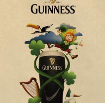 Guinness_Spirit of Ireland. Um projeto de Ilustração e Direção de arte de Oscar MoMad         - 16.07.2016