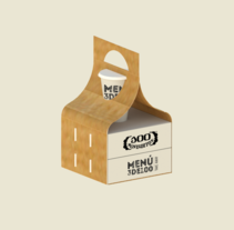 MENÚ 3 DE 100. A Design, Graphic Design, Packaging, and Product Design project by Ana S. Dullius         - 26.06.2016