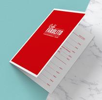 Café Farolito. Um projeto de Design gráfico de Sandra Rey         - 01.08.2016