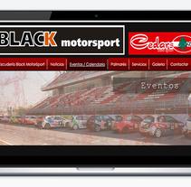Black motorsport WEB. A Design, Graphic Design, and Web Design project by Jordi-Pau Roca Valls (The Til·li)         - 06.08.2016