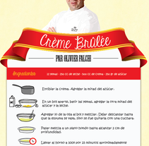 Receta Chef Olivier Falchi. A Illustration, and Graphic Design project by Agustina Perciante         - 17.07.2014