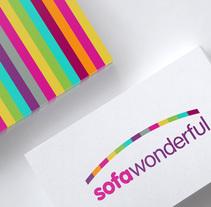 Diseño de logo para sofawonderful.com, una tienda online que ofrece una amplia gama de fundas de sofá, chaise longue, sillones, etc.... A Design, Br, ing, Identit, Graphic Design, and Naming project by Alejandro Prieto Jaime         - 25.08.2016