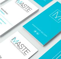 IMASTE - Identidad Corporativa. Un proyecto de Diseño, Br, ing e Identidad, Diseño editorial y Diseño gráfico de Nuria Muñoz - 26-08-2016