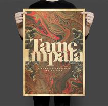 Tame Impala Gig poster. Un proyecto de Collage, Dirección de arte y Diseño gráfico de Fran Rodríguez - Martes, 30 de agosto de 2016 00:00:00 +0200