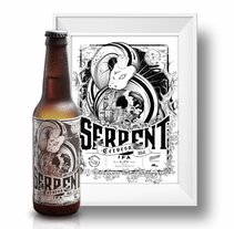 Serpent Beer. Un proyecto de Diseño, Ilustración y Caligrafía de Pere Rosell Codina         - 01.09.2016