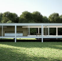 Proyecto final Farnsworth house . A Design, Illustration, Photograph, Architecture, Furniture Design, Interior Architecture, Interior Design, Lighting Design&Infographics project by Marc Poncelas Antunez         - 05.09.2016