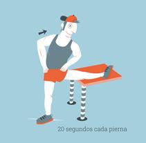 Guia de estiramientos. A Illustration, Graphic Design&Infographics project by Ceskus Ilustrador         - 06.09.2016