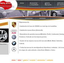 Sitio web Marcartis y algunas otras opciones de diseño. Um projeto de Design gráfico e Web design de Alberto Figueroa Notó         - 07.09.2016