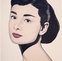 """Ilustración """"Audrey"""". Un proyecto de Ilustración de Silk  Belvís  - 09-09-2016"""