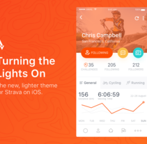 Strava Profile - Daily UI. A Design, UI / UX, and Web Design project by Jokin Lopez - Sep 13 2016 12:00 AM