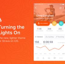 Strava Profile - Daily UI. Um projeto de Design, UI / UX e Web design de Jokin Lopez         - 12.09.2016