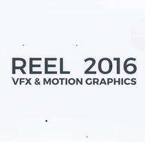 Reel 2016 - Motion Graphics & VFX. A 3D, Animation, Film, Video, and TV project by David López Garrido - Sep 15 2016 12:00 AM