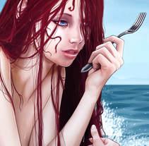 Ariel, the Little Mermaid. Un proyecto de Ilustración, Comic y Cine de Ana del Valle Seoane - 15-09-2016