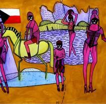 la bandera ilustracion. Un proyecto de Diseño, Ilustración y Bellas Artes de Erika Kovarikova         - 16.09.2016