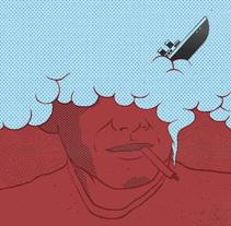 Smoke man. Un proyecto de Ilustración de Javi Travi         - 11.10.2016